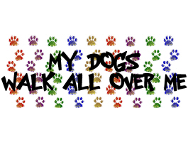 MY DOGS WALK ALL OVER ME