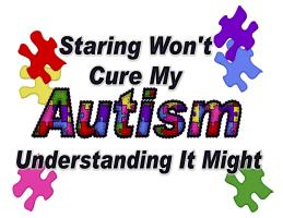 STARING WON'T CURE MY AUTISM
