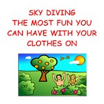 a funny sky diving joke on gifts and t-shirts.