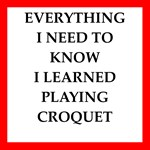croquet joke on gifts and t-shirts.