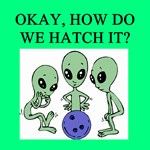 alien bowling joke gifts t-shirts