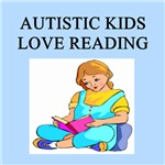 autistic girls reading books gifts t-shirts
