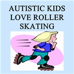 autistic girls roller skating gifts t-shirts