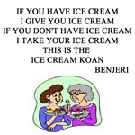 zen ice cream koan gifts t-shirts