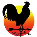 Rooster Weathervane Sunrise