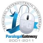 ParalegalGateway's 10th Anniversary Logo