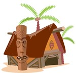 Little Grass Shack | Island Hopping Tiki Chic T-shirts & Gifts