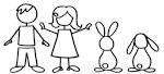 2 bunnies family
