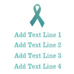 Personalized Ovarian Cancer Shirts