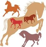Silhouette Horse Art Shirts