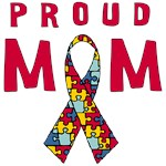 Proud Mom Autism Ribbon Mother's Day Gifts