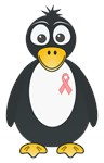 Pink Ribbon Penguin Shirts