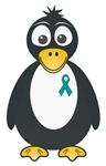 Teal Ribbon Penguin Shirts