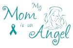 Ovarian Cancer Angel Mom T-shirts