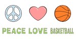 Peace Love Basketball T-shirts