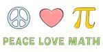 Peace Love Math T-shirts