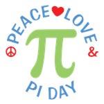 Peace Love Pi Day Shirts