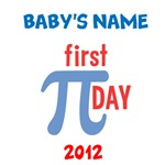 Custom First Pi Day Baby Shirts