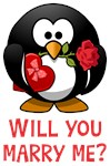 Marriage Proposal Penguin Shirts