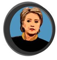 Hillary Clinton for President Lapel Stickers