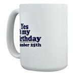 Large Mugs for December Birthdays