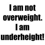 I am not overweight. I am underheight!