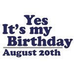 August 20th Birthday T-Shirts & Gifts