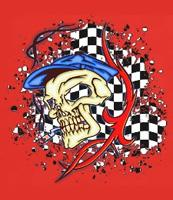 Colorfull Racing Skulls