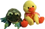 Frog and Ducky friends