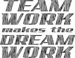 team/dream work (water polo t-shirt)