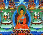 Colorful Buddha Thangka Painting
