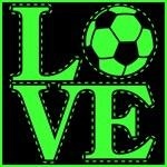 Love Soccer Green