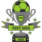 PERSONALIZED SOCCER TROPHY
