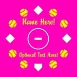 Personalized Softball Pink Diamond