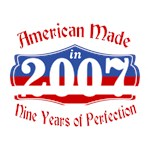 American Made in 2007 9th Birthday Patriotic