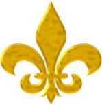 Fleur-de-lis Hammered Gold