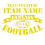 Fantasy Football Personalized Gold