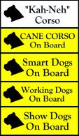 Cane Corso bumper stickers