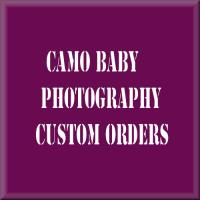custom order for camo baby photography
