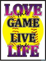 Softball Love the Game Live the Life