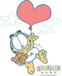 Garfield Baby Heart Balloon