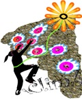 Young Girl Flower Climber