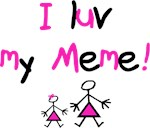 I luv my Meme (pink)