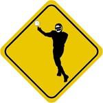 Football Crossing Sign