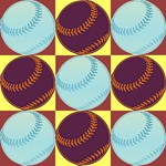 Pop Art Baseball