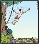 Tarzan runs out of Jungle