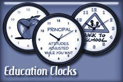 Education Occupation Wall Clocks