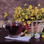 Yellow Flower & Cup of Tea
