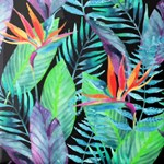 Tropical Bird of Paradise Floral Watercolor