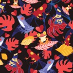 Cute Frogs Tropical Floral Pattern